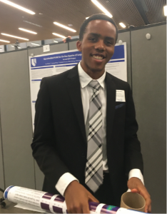 Mathew Atisa, poster first author & presenter at Duke Research Computing Competition