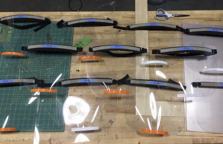 Face shield prototypes